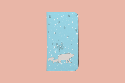 Polar Bear Family iPhone Folio Wallet Case
