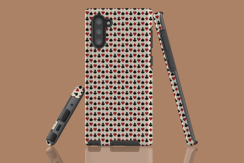 Playing Card Suits on Beige Samsung Galaxy Case