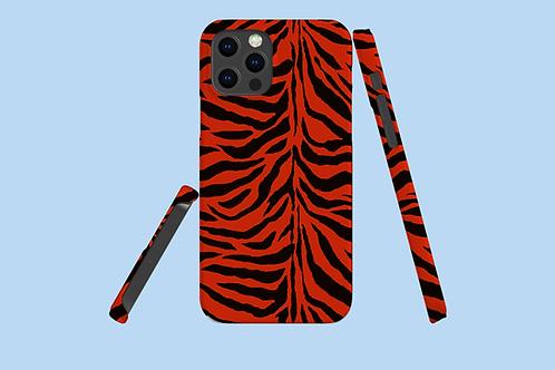 Red Zebra Stripes iPhone Case