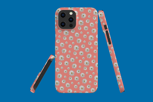 Daisies on Coral iPhone Case
