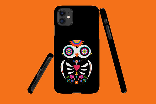 Black Skeleton Owl iPhone Case 62
