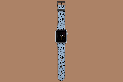 Spotty Blue Apple Watch Strap