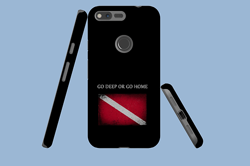 Go Deep or Go Home Small Dive Flag Google Pixel Case