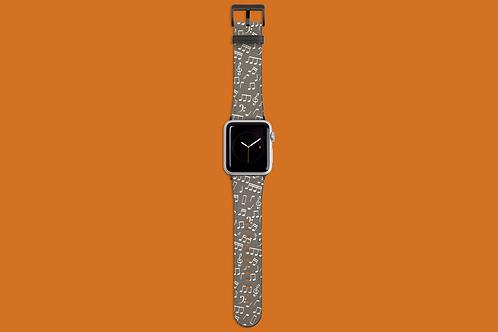 Solar Ash Music Notes Apple Watch Strap