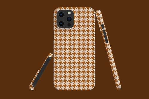 Beige Houndstooth iPhone Case