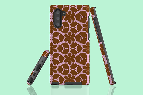 Pink and Tan Flowers Samsung Galaxy Case