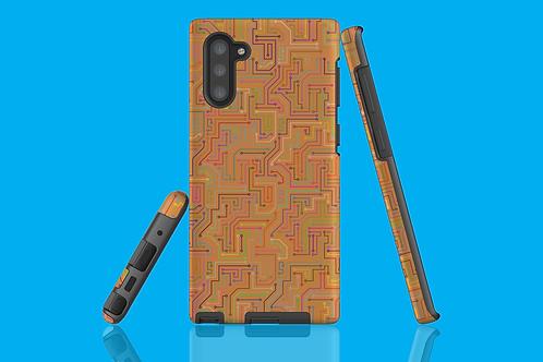 Circuit Board Tan Samsung Galaxy Case