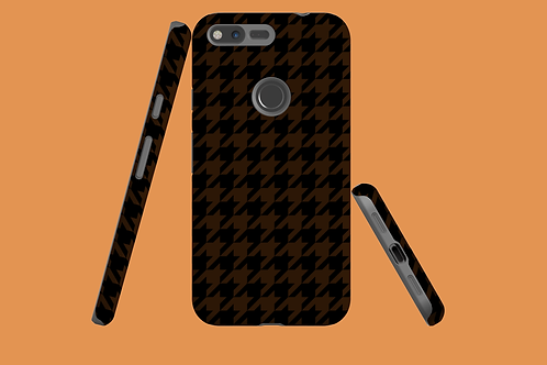 Black and Tan Houndstooth Google Pixel Case
