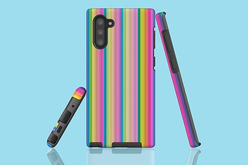 Pastel Rainbow Stripes Samsung Galaxy Case