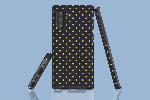 Yellow Polka Dots on Polar Night Samsung Galaxy Case