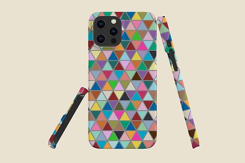 Multicolour Triangles iPhone Case