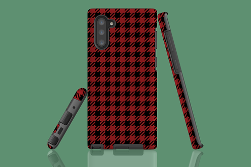 Red and Black Houndstooth Samsung Galaxy Case