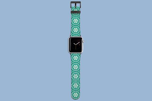 Skandi Flower Green Apple Watch Strap