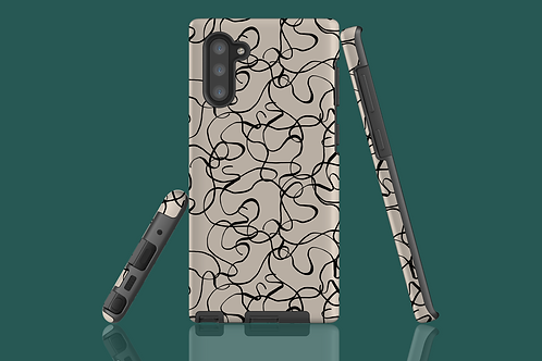 Black and White Squiggles Samsung Galaxy Case