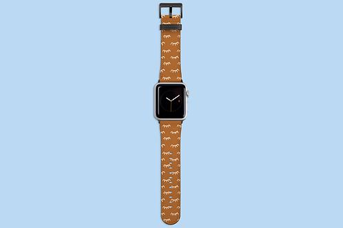 Tangerine Eyelashes Apple Watch Strap