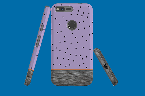 Driftwood Purple Squares Google Pixel Case