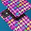 Thumbnail: Pastel Rainbow and Purple Houndstooth iPhone Case