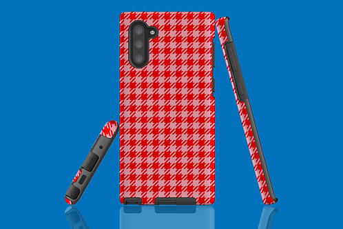 Red and Pink Houndstooth Samsung Galaxy Case