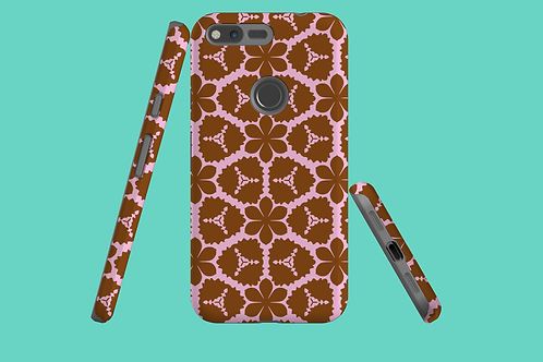 Pink and Tan Flowers Google Pixel Case