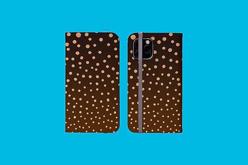 Bonfire Dots iPhone Folio Wallet Case