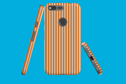 Tangerine Stripes Google Pixel Case