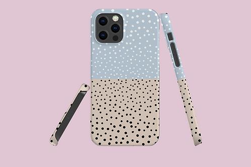 Blush 'n' Blue Dots iPhone Case