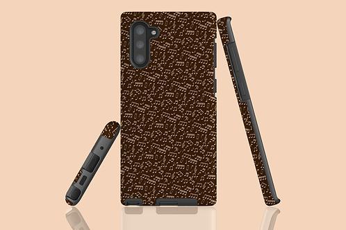 Chocolate Music Notes Samsung Galaxy Case