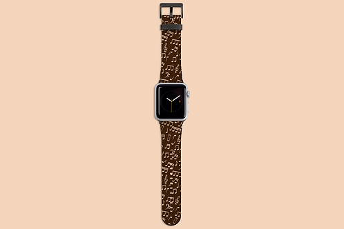 Chocolate Music Notes Apple Watch Strap
