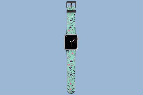Pink and Purple Butterflies Apple Watch Strap