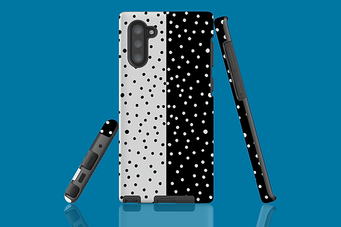 Black and White Horizontal Dots Samsung Galaxy Case