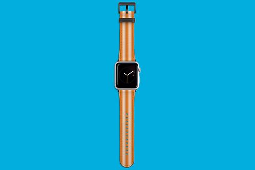 Tangerine Stripes Apple Watch Strap