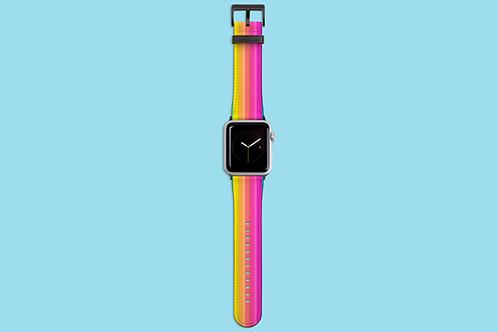 Pastel Sunset Stripes Apple Watch Strap