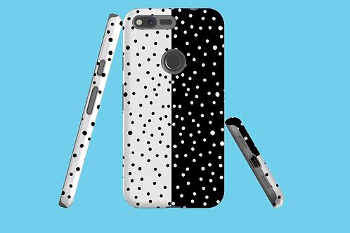 Black and White Horizontal Dots Google Pixel Case