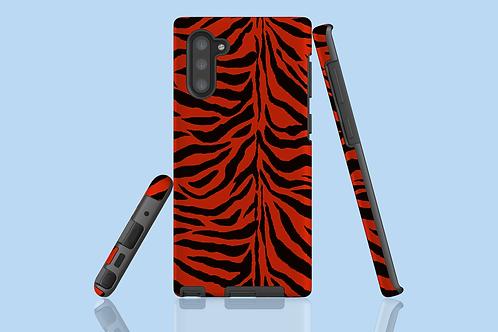 Red Zebra Stripes Samsung Galaxy Case