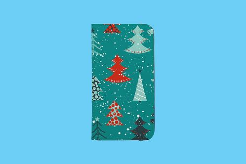 Christmas Trees iPhone Folio Wallet Case