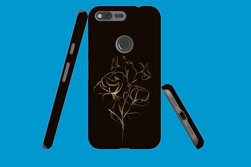 Gold Flower Sketch Google Pixel Case