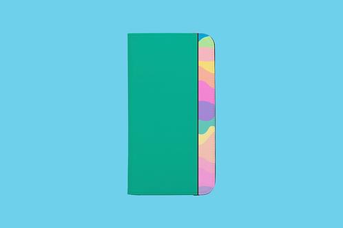 Pastel Rainbow Green iPhone Folio Wallet Case
