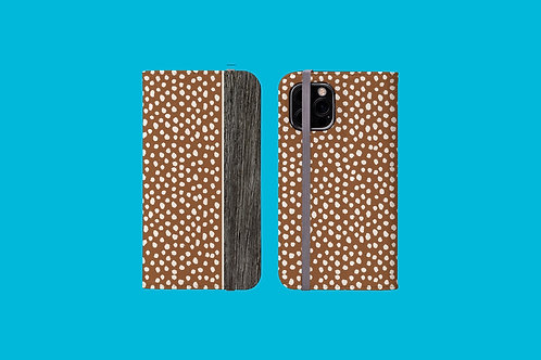 Driftwood Chocolate Dawbs iPhone Folio Wallet Case