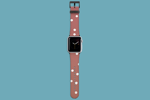Rose Dots Apple Watch Strap
