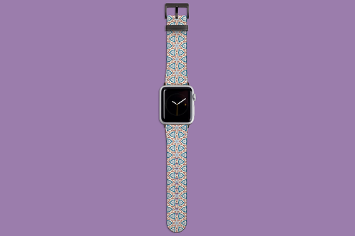 Floral Geometric Light Apple Watch Strap
