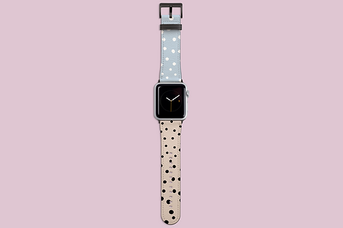 Blush 'n' Blue Dots Apple Watch Strap