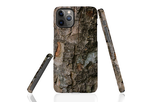 Dark Tree Bark iPhone Case