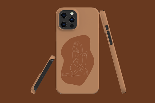 Two Tone Line Art Abstract Body iPhone Case