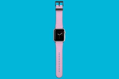 Bubblegum Pink Solid Colour Apple Watch Strap