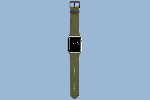 Moss Green Solid Colour Apple Watch Strap