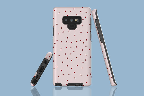 Tiny Red Squares on Natural Blush Samsung Galaxy Case