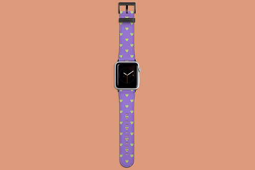 Violet and Green Tiny Hearts Apple Watch Strap