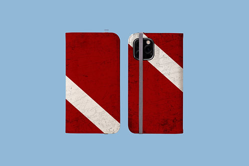 Dive Flag iPhone Folio Wallet Case