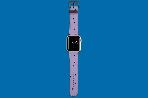 Tiny Black Squares on Purple Apple Watch Strap