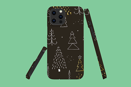 Golden Christmas Trees iPhone Case